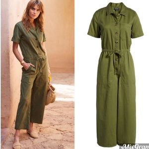 Madewell Wide Leg Utility Jumpsuit in Desert Olive